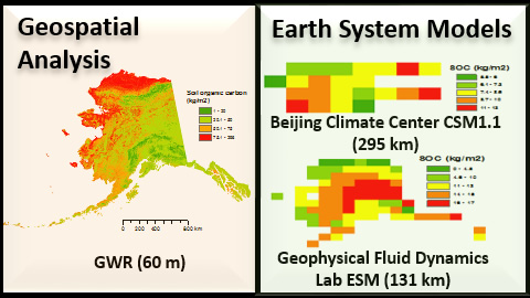 Sample geospatial modeling and analysis data